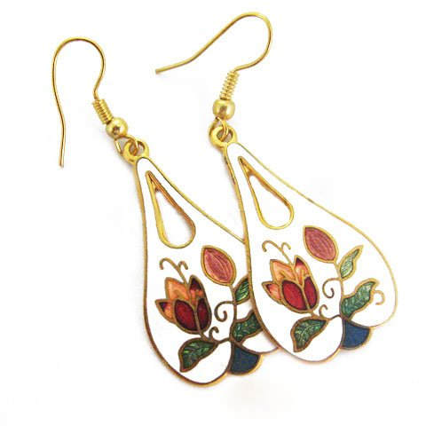 EBK-8001     Cloisonne Earrings