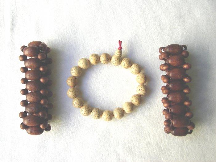 BCQ-9006      Wood Beads Bracelet set