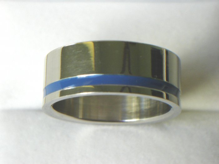 RHD-8061      Stainless Steel One Row Band Ring