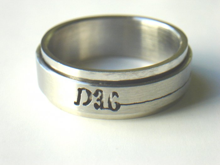 RHD-8025     Stainless Steel Laser Cut Spin Ring