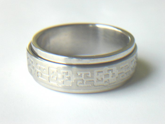 RHD-8020     Stainless Steel Laser Cut Spin Ring