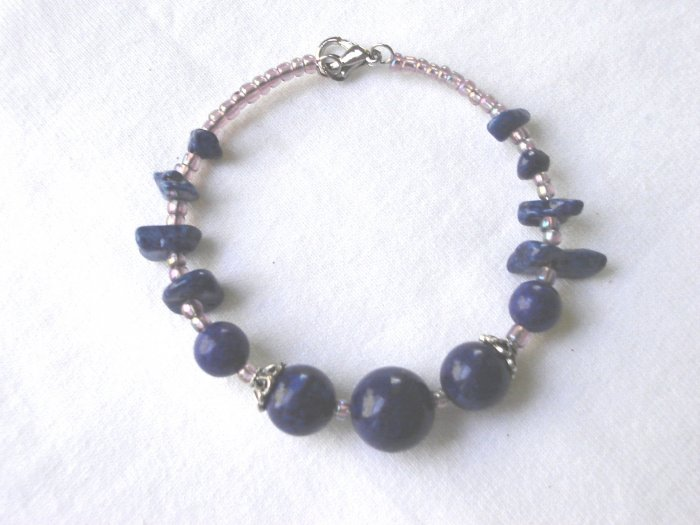 BSP-8001        Agate Beads, Tibet Silver Bracelet