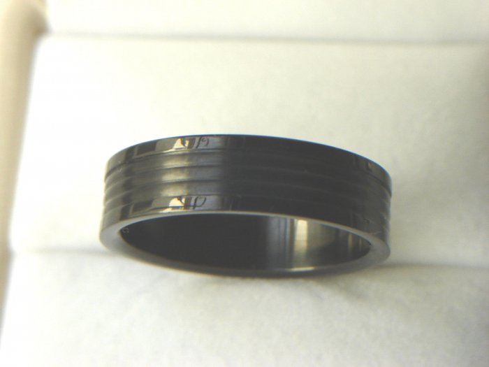 Free shipping--Black Stainless steel Band Ring