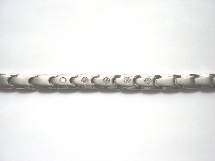 BHD-8002     Titanium and Cubic Zirconia Bracelet