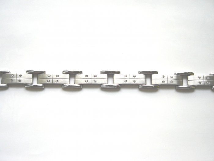 BHD-8008    Stainless Steel  And CZ Bracelet