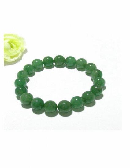BCN-8012     Green Jade Beads Bracelet
