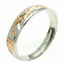 Free shipping---Gold-Plated Sterling Silver Ring