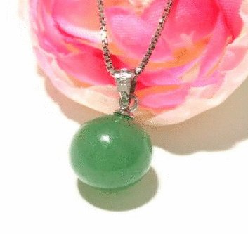 Free shipping---Sterling Silver, Jade Pendant
