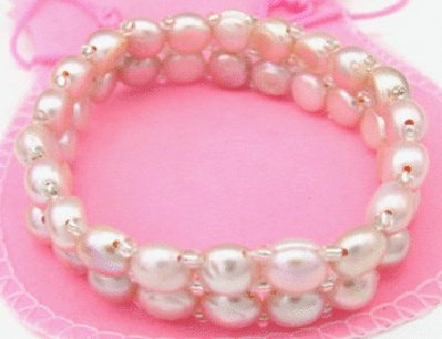 Free shipping---Golden Natural Pearl Bracelet