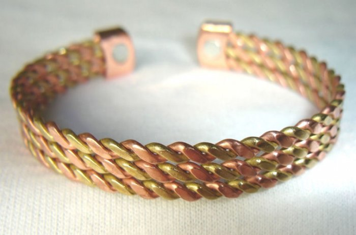BWT-8002  Rose gold and Goldtone 2-Tone Stainless Steel Cuff Bracelet