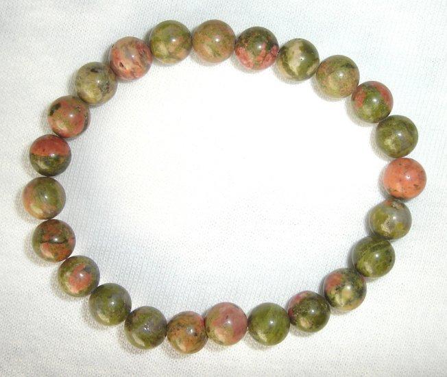 HDB-8005 Unakite Stone Bracelet
