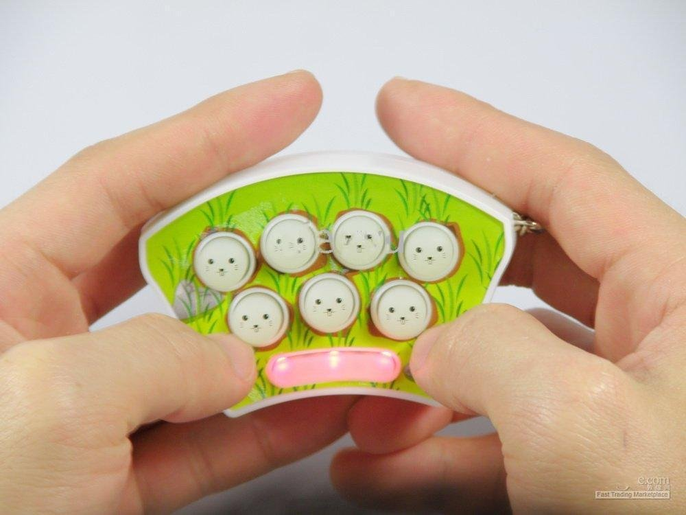 Free shipping---6 pcs/lot -Mini Whack-A-Mouse Puzzles Mole Gopher Game Key Chain
