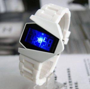 Free shipping--Fashion novelty B-2 Spirit shape Led watches