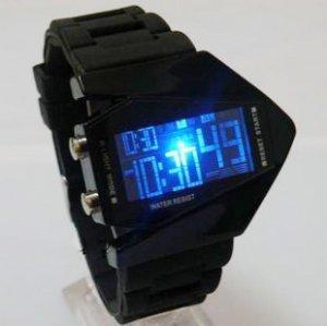 Free shipping--10 pcs/lot Fashion novelty B-2 Spirit shape Led watches
