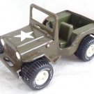 "VINTAGE TONKA TRUCK'S US ARMY SOLDIER'S METAL TOY JEEP 6"" LONG NEAT OLIDE"