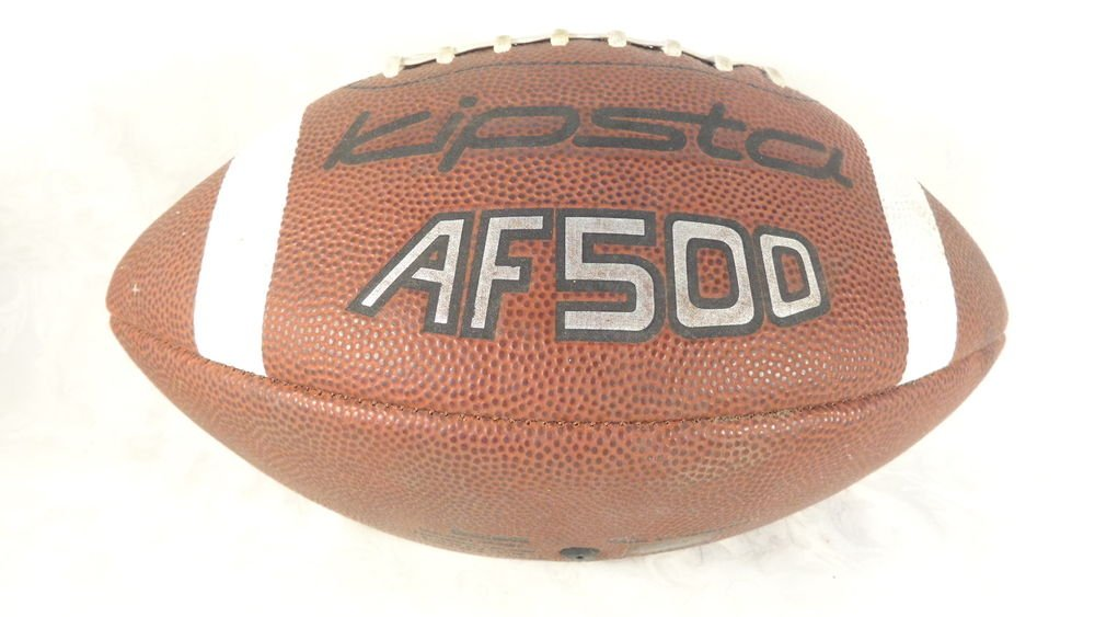 VINTAGE KIPSTA AF500 OFFICIAL SIZE FOOTBALL LEATHER BOUND NICE OLDIE KIDS BALL