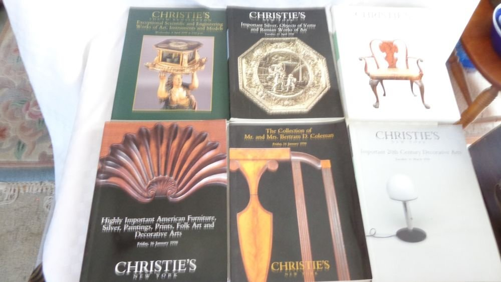 1998 CHRISTIES AUCTION HOUSE CATALOG BOOK LOT 6 BOOKS FURNITURE ARTS SILVER
