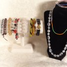 VINTAGE RETRO JEWELRY LOT LUCITE PLASTICS SEED BEAD BRACELETS NECKLACES GLASS