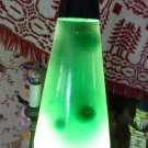 "VINTAGE ORIGINAL EARLY LAVA LAMP MINT GREEN STARSHIP BASE 16"" TALL UNIQUE FIND"