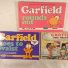 1987-1988 GARFIELD THE CAT SET 3 SC BOOKS GARFIELD GOES HOLLYWOOD ROUNDS OUT ECT