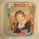 ANTIQUE TIN METAL COCA COLA SODA ADVERTISING TRAY PLATTER 1945 WW2 ERA