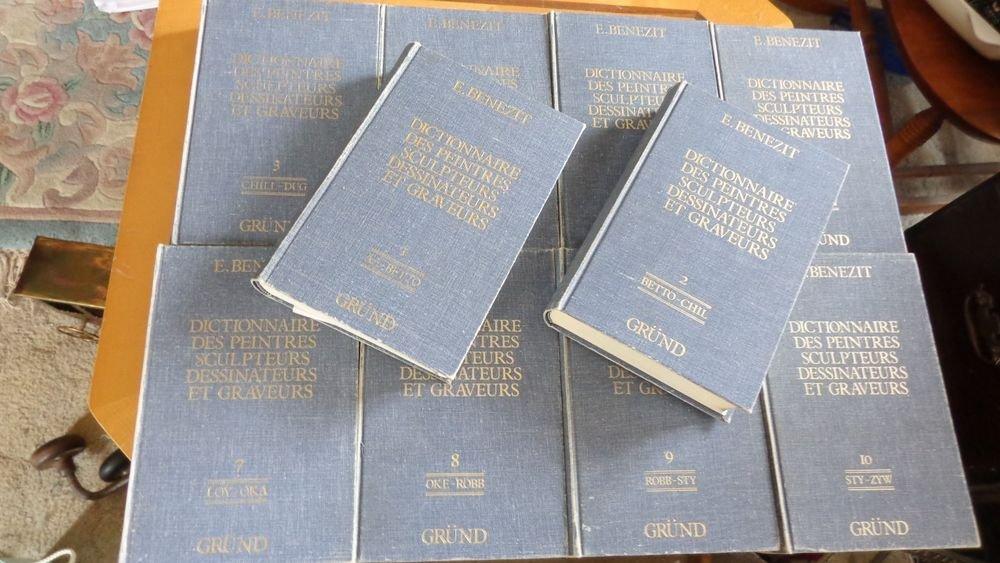 1976 PARIS FRANCE BENEZIT DICTIONARY PAINTERS SCULPTERS & PRINTERS 10 BOOK SET