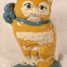 VINTAGE ANTIQUE? CAST IRON CAT KITTEN DOOR STOP BOOK END PAPERWEIGHT ADORABLE