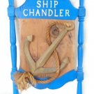 20th CENT 1798 SHIP CHANDLER CARVED NAUTICAL WOODEN PLAQUE ANCHOR SAILOR ROPE