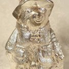 RARE 1978 SILVER PLATE PADDINGTON BEAR STILL BANK ADORABLE...BY RAIMOND JAPAN