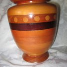 Modern Vintage Turned Wood Vase Urn American signed dated Woodturning 1970s
