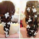 White Bridal Headpiece,White Bridal Fascinator,Hydrangea Hair Clip,Bridal Hair Fascinator,