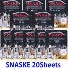 Snake Ultra hydrating essence mask pack 20 sheets
