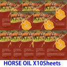 Horse oil face mask pack 10 sheets
