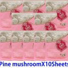 Pine mushroom  face mask pack 10 sheets