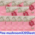 Pine mushroom  face mask pack 20 sheets