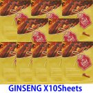 Ginseng face mask pack 10 sheets