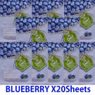Blue berry face mask pack 20 sheets