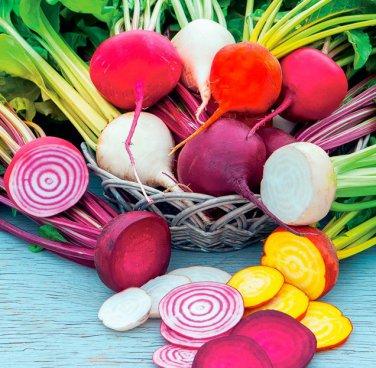 HEIRLOOM NON GMO Rainbow Beet Mix 100 seeds