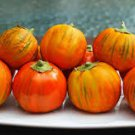 HEIRLOOM NON GMO Cookstown Orange Eggplant  25 seeds
