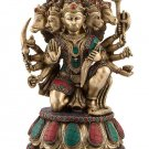 Large Panchmukhi Hanuman Statue Diety Monkey Sculpture figurine Hindu God 14""