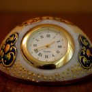 Clock Top Table Vintage Deco Desk Marble made Electric Working Art Co Works