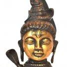 Antique Shiva Head Brass Statue Art Sculpture Metal Vintage Idol Sculpture