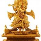"""Large Krishna Radha Statue Wood idol handmade Sculpture fine quality 13"""" Tall"""