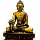Large Buddha Statue Tibet Carved Chinese Tibetan Carved Buddhism Brass Sakyamuni