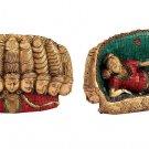 Turquoise Ten head Ravan statue Ravana King of lanka Multiface Handmade Deco
