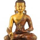 12 Inch Large Buddha statue astmangal Medicine handmade Brass Bronze Finish