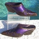 Donald Pliner $320 WESTERN COUTURE BOOT MULE Shoe NIB 6 COBRA SNAKE METALLIC