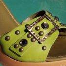 Donald Pliner $285 COUTURE NAPPA LEATHER Shoe NIB GEMSTONES GROMMETS SANDAL