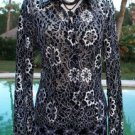 Cache $306 LOT 2 SHEER ILLUSSION LACE Top Jacket + Pant NWT 2/4/6/8 S/M