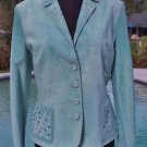 Donald Pliner $1250 SUEDE LEATHER Jacket Coat Top NWT XS/S Lined Embelished SHOE
